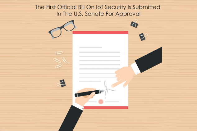 the first official bill on iot cyber security submitted in the U.S. House of Senate